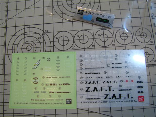 The somewhat cooler designs faith symbol and zaft logo are clear stickers